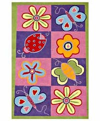 Hand-tufted Flowers and Butterflies Kids' Rug (3' x 5') - Multi - 3' x 5'