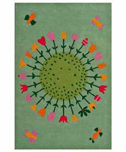 Hand-tufted Flower Kids' Rug (4' x 6')