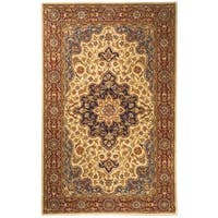 Safavieh Handmade Heritage Traditional Tabriz Ivory/ Red Wool Rug (6' x 9')
