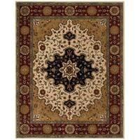 Safavieh Handmade Heritage Traditional Tabriz Ivory/ Red Wool Rug - 7'6 x 9'6