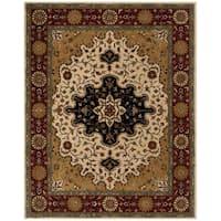 Safavieh Handmade Heritage Traditional Tabriz Ivory/ Red Wool Rug - 8'3 x 11'