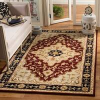 Safavieh Handmade Heritage Traditional Tabriz Red/ Black Wool Rug (8'3 x 11')