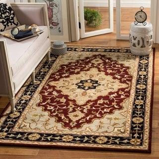 Safavieh Handmade Heritage Traditional Tabriz Red/ Black Wool Rug (9'6 x 13'6)