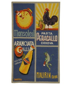 Safavieh Hand-hooked Vintage Poster Blue Wool Rug (2'9 x 4'9)