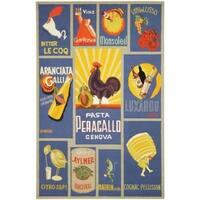 "Safavieh Hand-hooked Vintage Poster Blue Wool Rug - 3'-9"" x 5'-9"""