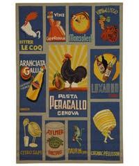 Safavieh Hand-hooked Vintage Poster Blue Wool Rug - 5'3 x 8'3