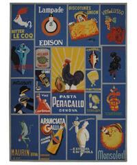 Safavieh Hand-hooked Vintage Poster Blue Wool Rug - 8'9 X 11'9