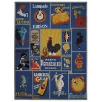 "Safavieh Hand-hooked Vintage Poster Blue Wool Rug - 8'-9"" x 11'-9"""
