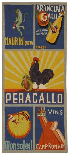 Safavieh Hand-hooked Vintage Poster Blue Wool Runner (2'6 x 6')