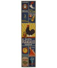 "Safavieh Hand-hooked Vintage Poster Blue Wool Runner - 2'6"" x 12'"