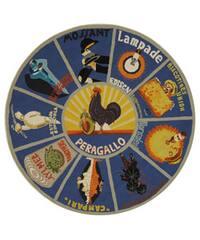 Safavieh Hand-hooked Vintage Poster Blue Wool Rug - 8' Round