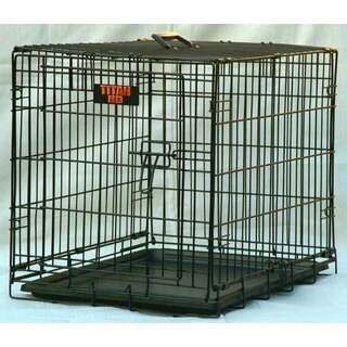 "Majestic Pet ""Titan"" Single Door 24-inch Folding Dog Crate"