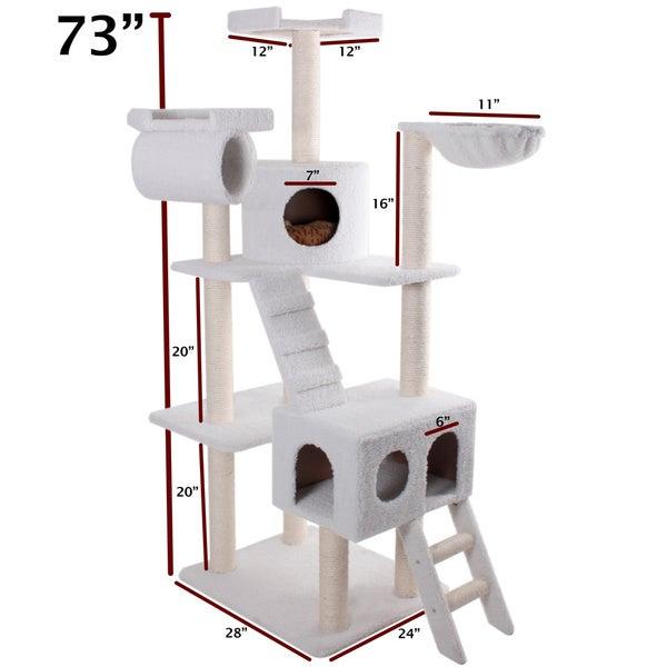 73-inch Bungalow Cat Furniture Tree Condo
