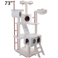 73-inch Bungalow Cat Furniture Tree Condo