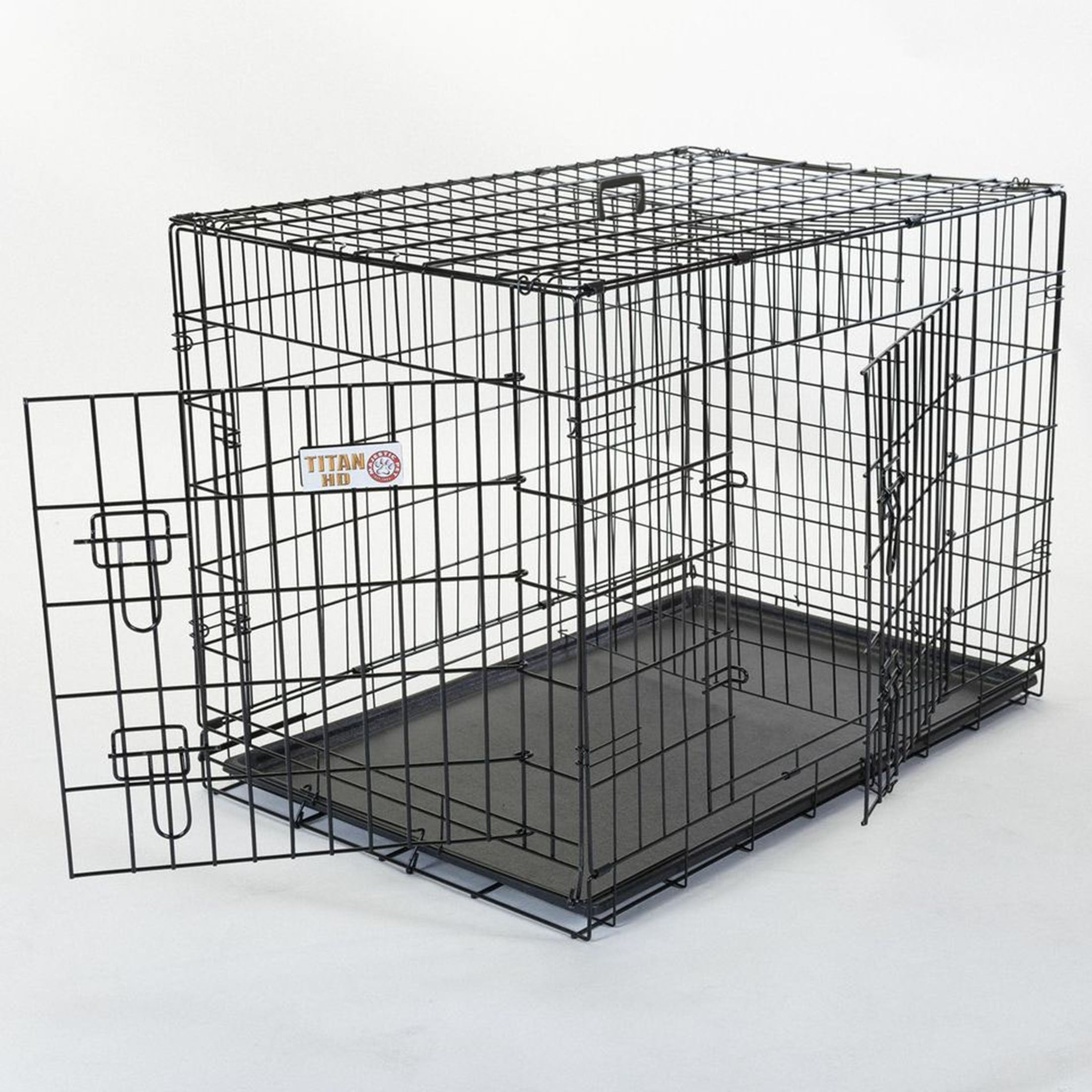 Majestic Pet Products Double Door Small Folding Dog Crate...