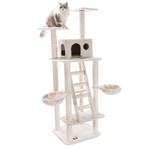 72-inch Bungalow Cat Tree Condo