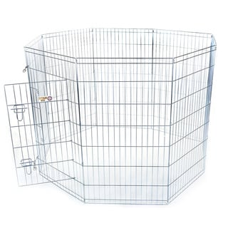 Large Outdoor 42-inch Eight-panel Steel-wire Pet Exercise Pen