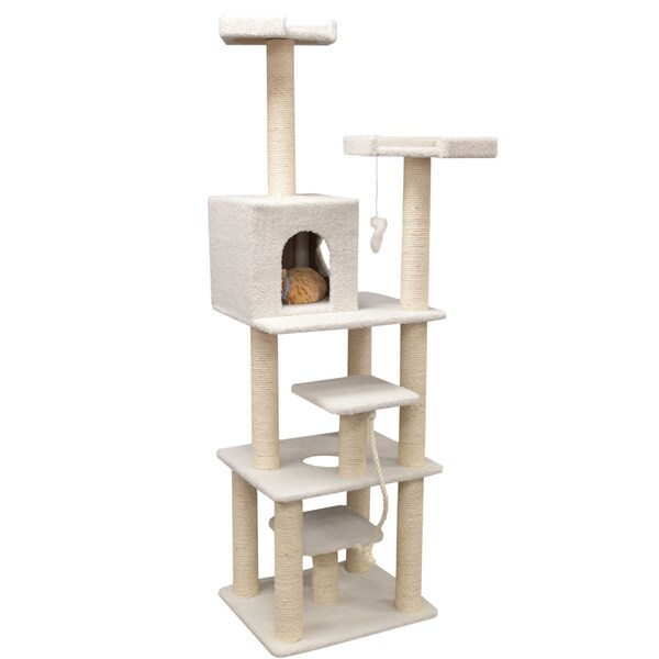 78-inch Bungalow Cat Furniture Tree Condo
