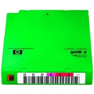 HP C7974AN LTO Ultrium 4 Non Custom Labeled Tape Cartridge