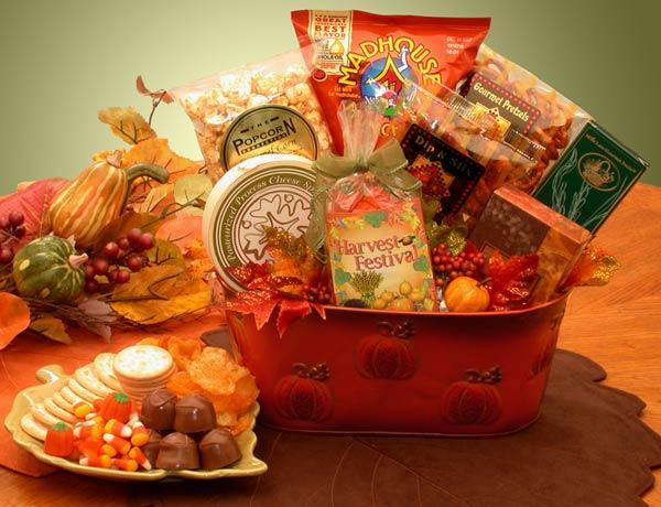 Fall Harvest Gourmet Snacks Gift Basket - Thumbnail 1