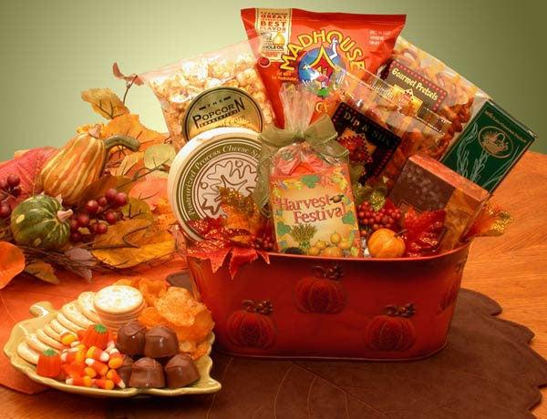 Fall Harvest Gourmet Snacks Gift Basket