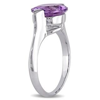 Miadora Sterling Silver Round Amethyst Ring