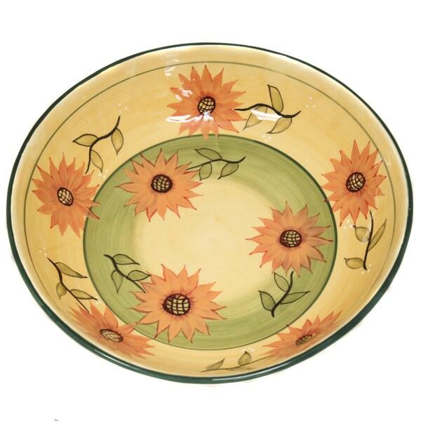 Sunflower Garden Large Pasta / Salad / Fruit  Bowl