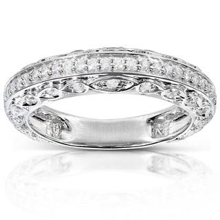 Annello by Kobelli 14k White Gold 1/3ct TDW Brilliant Diamond Ring
