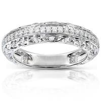 Annello by Kobelli 14k White Gold 1/3ct TDW Brilliant Diamond Ring