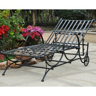 International Caravan Mandalay Multi-position Iron Chaise Lounge