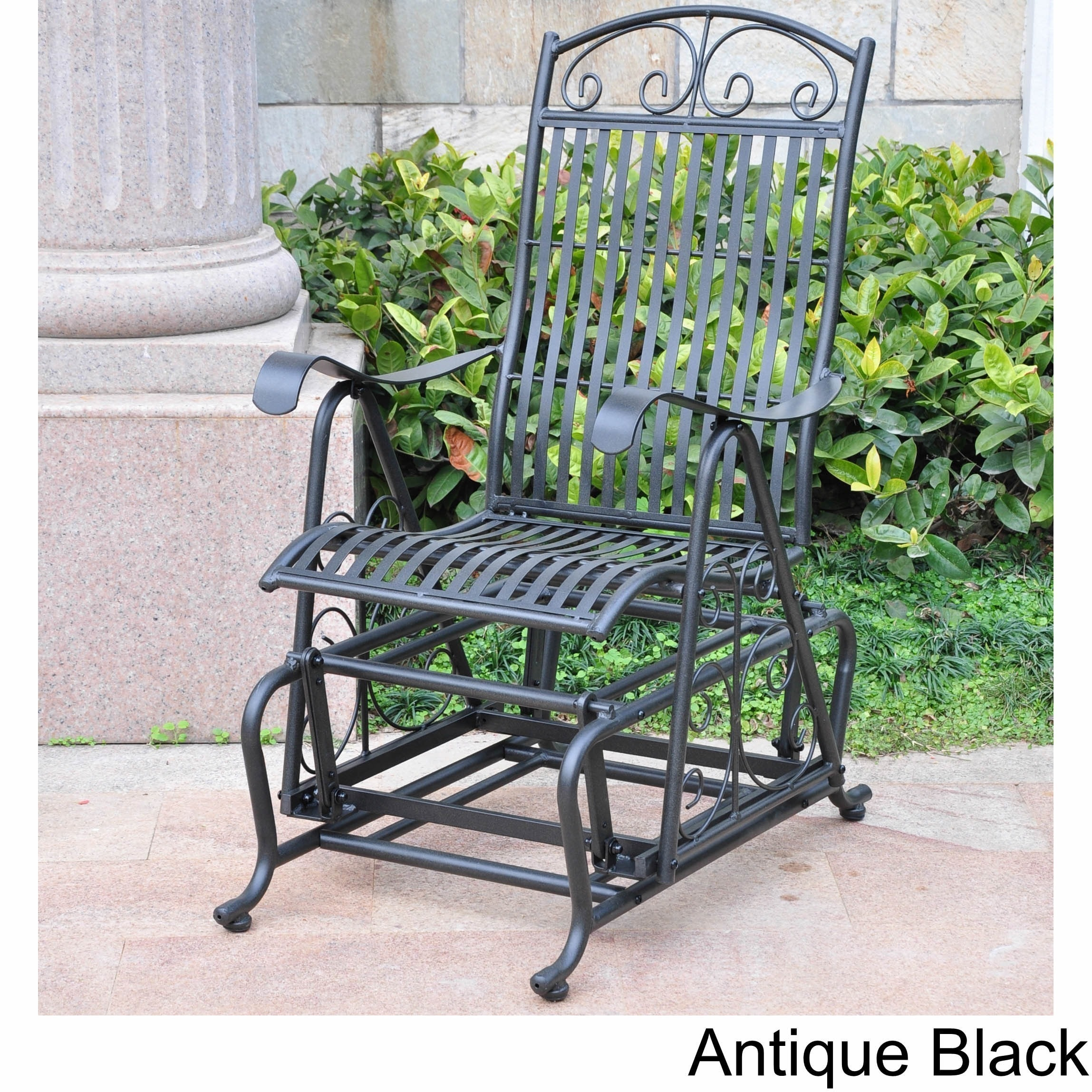 International Caravan Mandalay Iron Glider Chair (Antique...