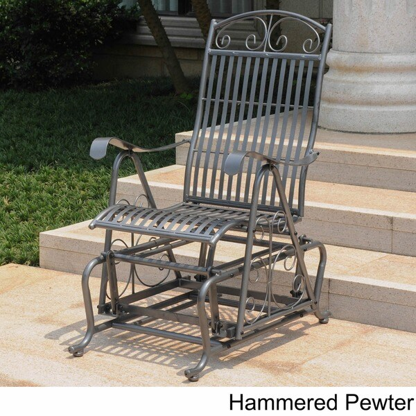 International Caravan Mandalay Iron Glider Chair   Free Shipping Today    Overstock.com   10876358