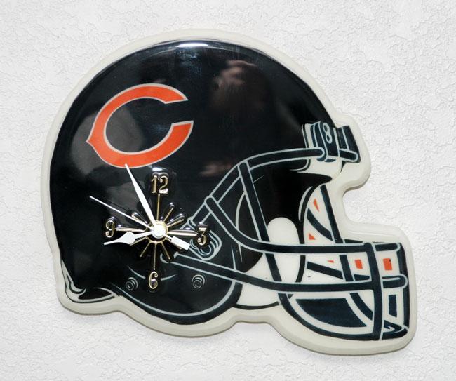 NFL Chicago Bears Helmet Clock