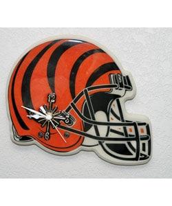Cincinnati Bengals Football Helmet Clock