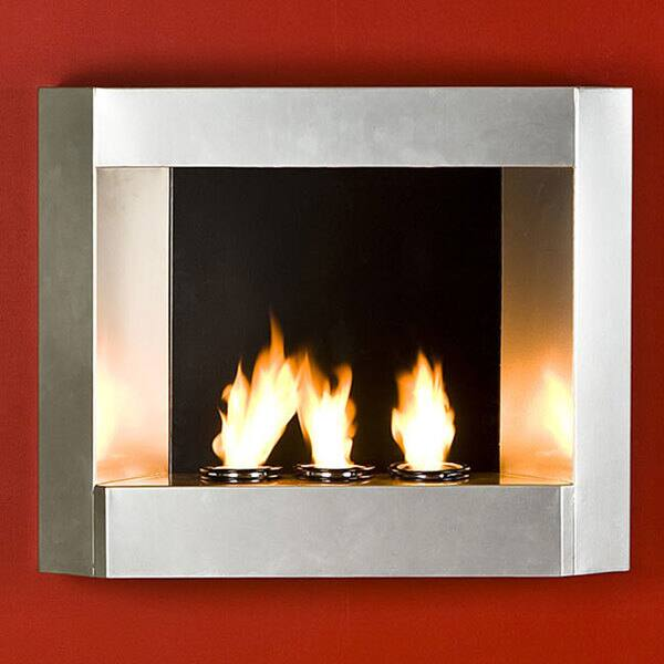 Shop Contemporary Wall Mount Gel Fuel Fireplace Overstock 2682300