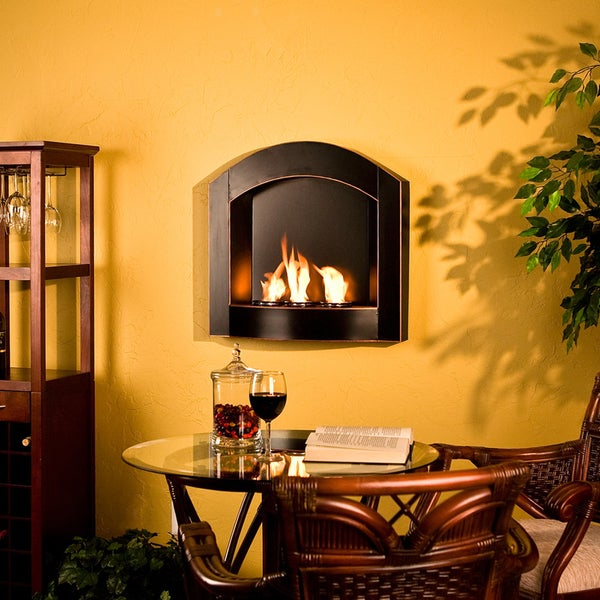 Harper Blvd Teva Arch Top Wall Mount Fireplace