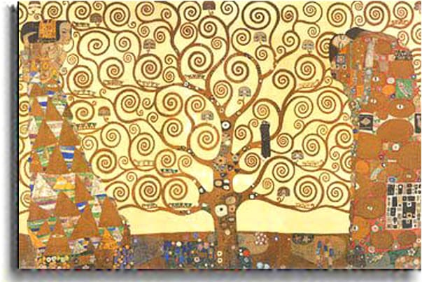 Gustav Klimt 'The Tree of Life' Stetched Canvas Art