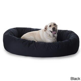 Luxurious Bagel Style Donut Plush Pet Dog Bed (4 options available)