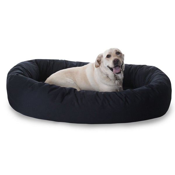 Shop Luxurious Bagel Style Donut Plush Pet Dog Bed - On Sale