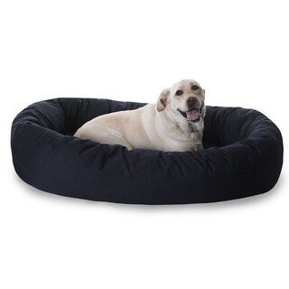 Majestic Pet Luxurious Bagel-style Donut Plush Pet Dog Bed (More options available)
