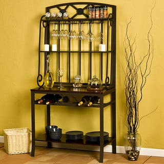 Harper Blvd Decorative Bakers/ Wine Storage Rack|https://ak1.ostkcdn.com/images/products/2683393/2683393/Decorative-Bakers-Wine-Storage-Rack-P10877553.jpg?impolicy=medium