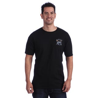 Just Another Day Drums Black Short-sleeve Casual Cotton T-shirt