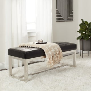 Clay Alder Home Liberty Black Leather Bench