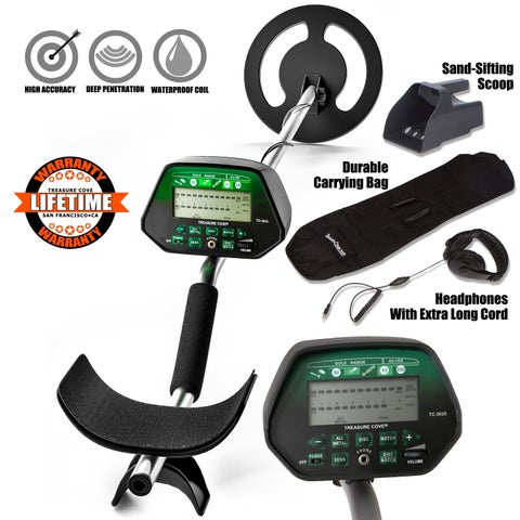 Treasure Cove TC-3020 Fortune Finder Platinum Metal Detector Kit Set