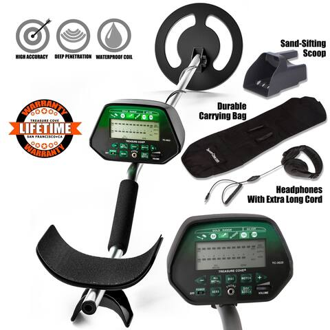Metal Detector Set Fortune Finder Platinum Digital TC-3020 - Waterproof Coil
