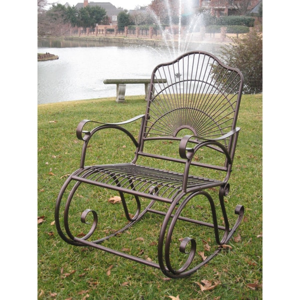International Caravan Sun Ray Iron Porch Rocker