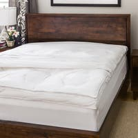 Luxury Natural Down on Top Featherbed with Cotton Cover Set