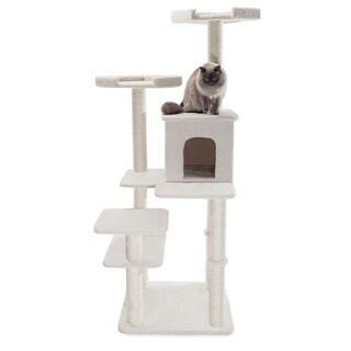 66-inch Bungalow Cat Furniture Tree Condo