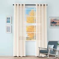 Miranda Haus Elegant Cormac Printed Sheer Grommet Curtain Panels