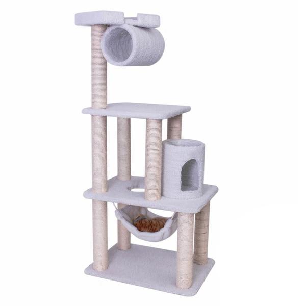 Superbe Bungalow Cat Furniture 62 Inch Tree Condo